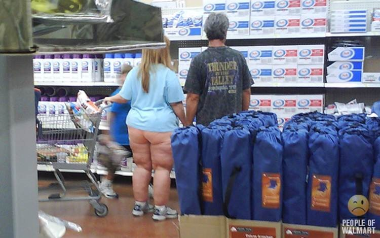 Necessary words... Naked people at walmart